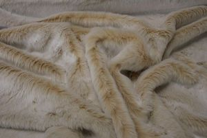 Ambassador Textiles - beige frost - Fake Fur
