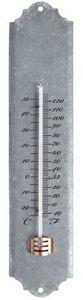 Esschert Design - thermomètre en zinc patiné pour jardin 50cm - Thermometer