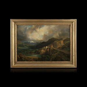 Expertissim - ecole francaise du xixe siècle. vue du montblanc d - Landscape Painting