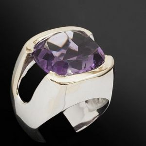 Expertissim - bague or et améthyste de 12.86 carats - Ring