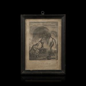 Expertissim - d'après crussaire. gravure à l'urne mystérieuse - Engraving