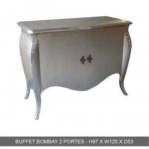 DECO PRIVE - buffet baroque argente bombay - Low Chest