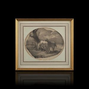 Expertissim - chevaux flamands. lithographie d'engelmann d'apr - Poster