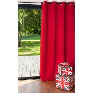 Maisons du monde - rideau occultant rouge - Eyelet Curtain
