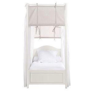 Maisons du monde - en bois blanc manosque - Single Canopy Bed