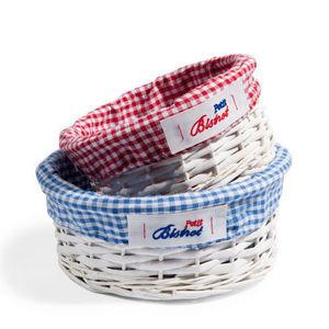 Maisons du monde - set de 2 paniers ronds vichy bistrot - Storage Basket