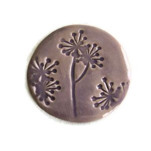 TERRE COLORÉE - dessous de plat galet céramique - fleur des champs - Plate Coaster