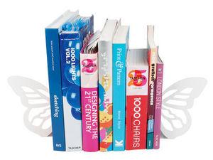Euraipt's - serre-livres papillon en métal blanc 21x17cm (par  - Book End
