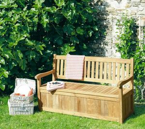 Garden bench with storage