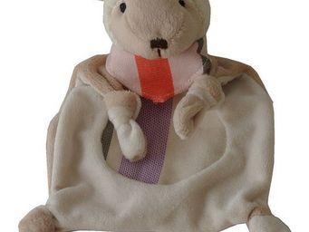 Les Toiles Du Soleil - doudou agneau sakura pétale/blanc - Soft Toy