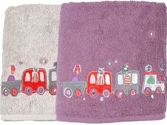 SIRETEX - SENSEI - drap de douche enfant 70x140cm en voiture - Children's Bath Towel
