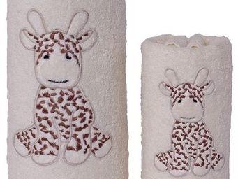 SIRETEX - SENSEI - serviette de toilette enfant 50x90cm brodée lili l - Children's Bath Towel