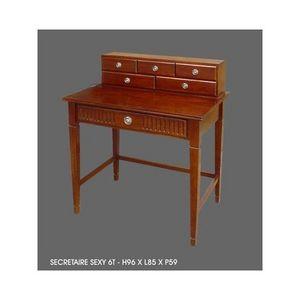 DECO PRIVE - bureau en acajou modele sexy - Secretary Desk