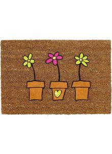 TAPISPASCHER - tapis pas cher pour paillasson coco daisy naturel  - Doormat