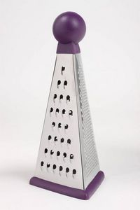 WHITE LABEL - râpe multi-fonction pyramide en inox et rubber - Vegetable Grater