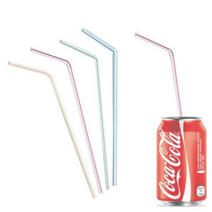 WHITE LABEL - lot de 40 pailles flexibles - Straw