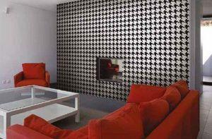 DEMOUR & DEMOUR Mosaïques - pied de poule - Mosaic Tile Wall