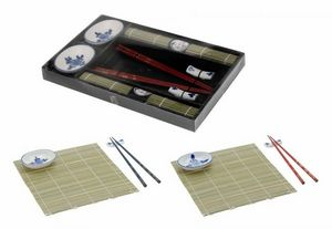 WHITE LABEL - ensemble duo asiatique spécial sushi - Chopstick