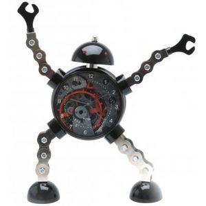 Present Time - réveil king robot métal - Children's Alarm Clock