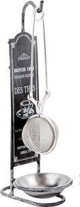 Aubry-Gaspard - boule à thé avec support noir & blanc - Tea Ball