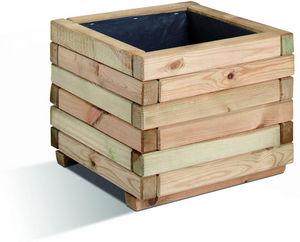 JARDIPOLYS - bac à fleurs carré stockholm 230 litres en pin 80x - Flower Container
