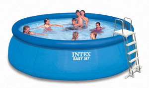 INTEX - piscine autoportante intex avec pompe filtre et ec - Inflatable Swimming Pool