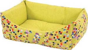 ZOLUX - sofa graffiti vert en tissu et ouate 47x38x19cm - Doggy Bed