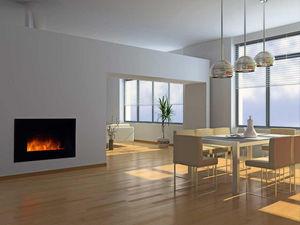 CHEMIN'ARTE - cheminée design volcano en acier et verre trempé n - Fireplace Insert