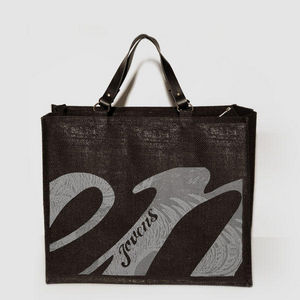 JOVENS - cabas en jute et cuir jovens black - Handbag