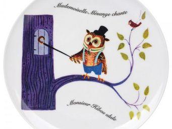 La Chaise Longue - assiette le chant des animaux hiboux - Infant Bowl