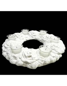L'HERITIER DU TEMPS - bougeoir couronne terre cuite - Tealight Holder