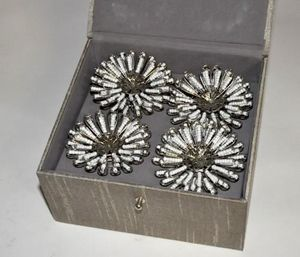 Demeure et Jardin - coffret ronds de serviette marguerite - Napkin Ring