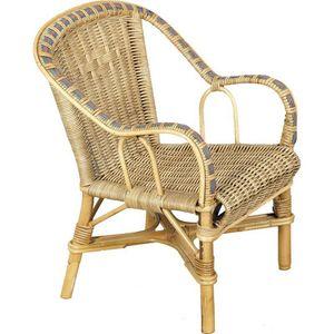 Aubry-Gaspard - fauteuil enfant en rotin crapaud - Children's Armchair