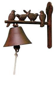 BEST FOR BOOTS - cloche de jardin en fonte 4 oiseaux - Outdoor Bell