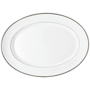 Raynaud - fontainebleau platine (filet marli) - Oval Dish