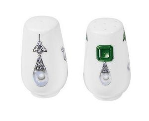 FRADKOF - ma russie gemstones.	 - Saltcellar And Pepperpot