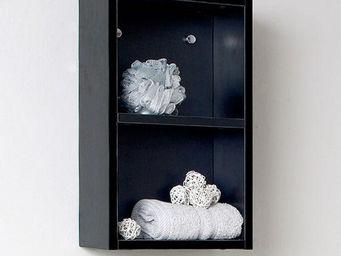 UsiRama.com - colonne de salle de bain 50cm noir - Bathroom Wall Cabinet