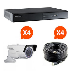 HIKVISION - videosurveillance - pack 4 caméras infrarouge kit  - Security Camera