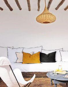 Maison De Vacances - chenille soft washed - Rectangular Cushion