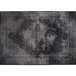 WHITE LABEL - tapis style persan rugged noir de zuiver 170 x 240 - Classical Tapestry