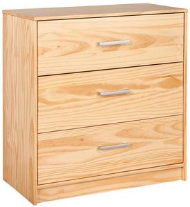 WHITE LABEL - commode à 3 tiroirs en bois pin massif - Children's Drawer Chest