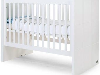 WHITE LABEL - lit enfant 90x200 évolutif blanc design moderne - Travel Cot