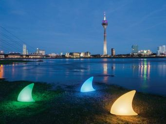 Moree - shark outdoor led pro accu - Led Garden Lamp