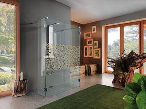 Samo - open mosaico - Shower Screen Panel