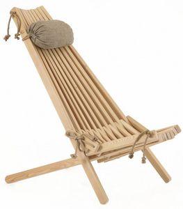 ECOFURN - chilienne en bois ecochair (coussin offert) mélèze - Deck Chair