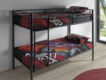 WHITE LABEL - lit superposé noir - baly - l 201 x l 99 x h 150 - - Children Bunk Bed