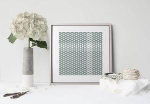 la Magie dans l'Image - print art lotus petit vert-de-gris blanc - Poster