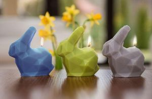 CANDELLANA - little poly bunnies - Decorative Candle