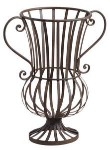AUBRY GASPARD - vase décoratif en métal veilli - Decorative Vase