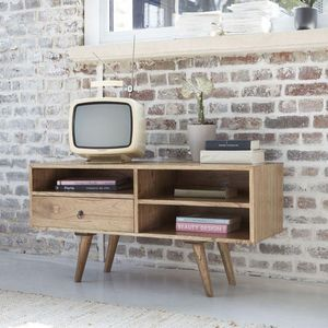 BOIS DESSUS BOIS DESSOUS - meuble tv en bois de mindy 110 oslo - Media Unit
